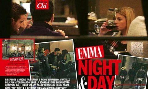 Emma Marrone e Fabio Borriello su Chi - Fonte: Twitter