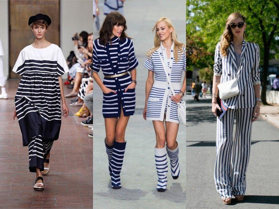 Bianco e Blu un classico riportato in passerella da Chanel