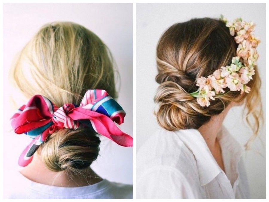 I fiori fanno molto matrimonio, ma i foulard regalano un immediato stile hippie