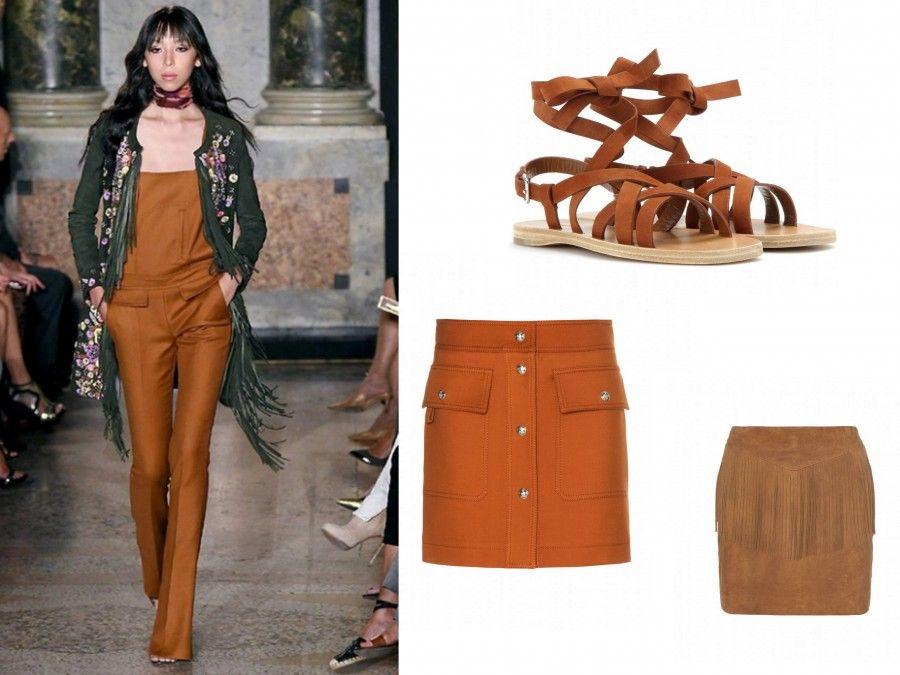 Look Sandstone di Pucci e accessori di Miu Miu, Saint Laurent e Pucci