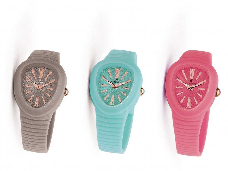 i nuovi Shape di Hoops, orologi gommosi e colorati disponibili in 7 golose varianti