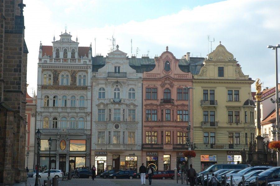 Pilsen, piazza del Municipio