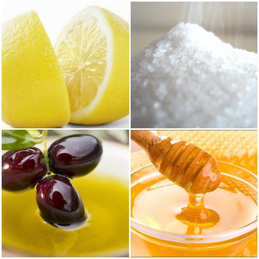 lemon_sugar_olive_oil_honey_scrub