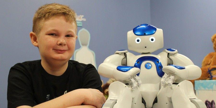 Robots Comfort Children