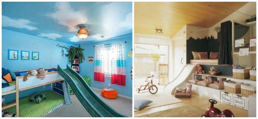 5 idee fuori dal comune per arredare la camera dei bambini bigodino - Letto a castello con scivolo ...