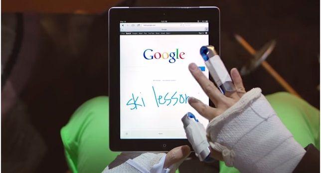 Scrittura a mano libera su Google
