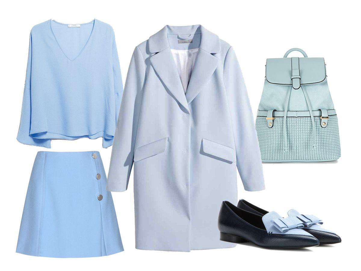 Come abbinare l'azzurro in un outfit invernale