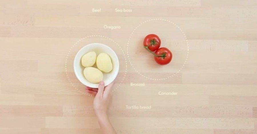 Il tavolo Ikea che suggerisce le ricette
