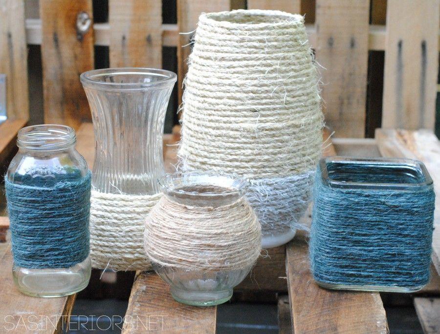 Idee creative per riciclare barattoli e bottiglie bigodino - Decorazioni vetro ...