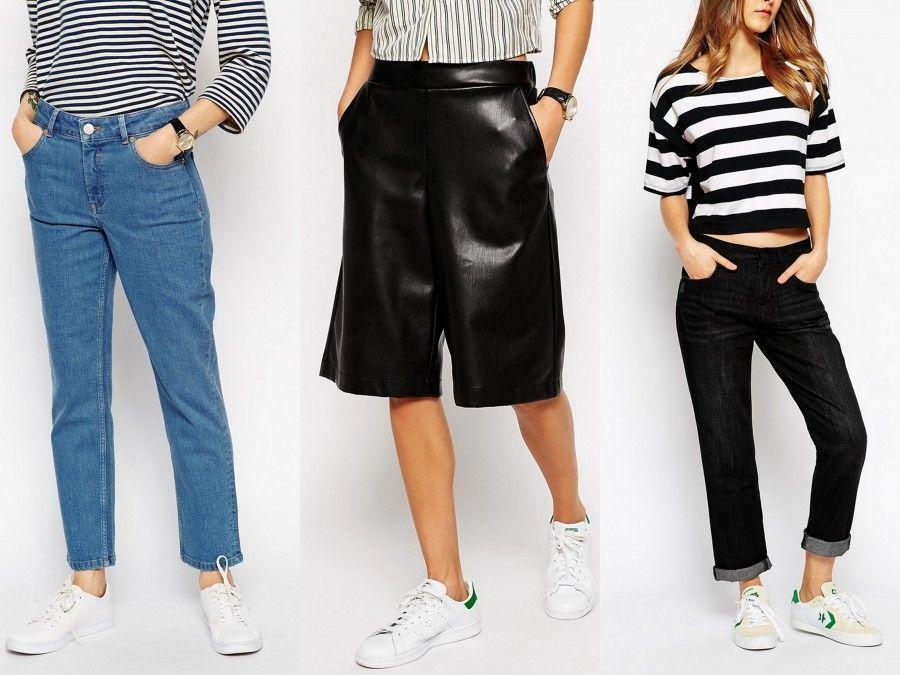 Pantaloni alla caviglia e sneakers: l'accoppiata più comodo in assoluto