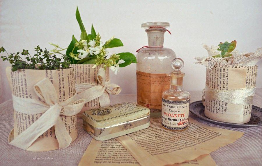 Idee creative per riciclare barattoli e bottiglie bigodino - Decorazioni vintage ...