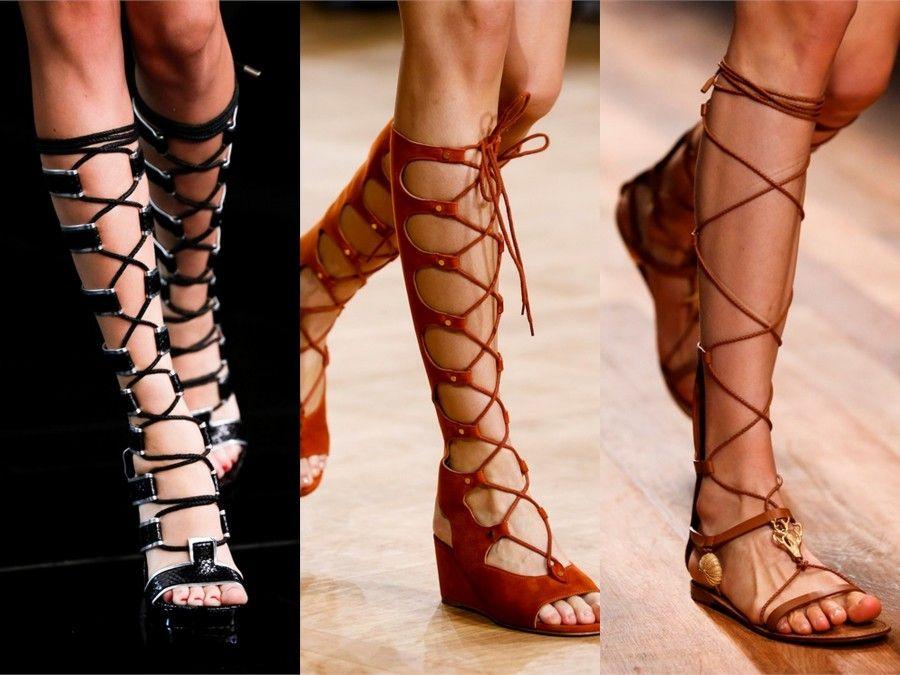 Proposte sandali alti di Alexander McQueen, Chloè e Valentino