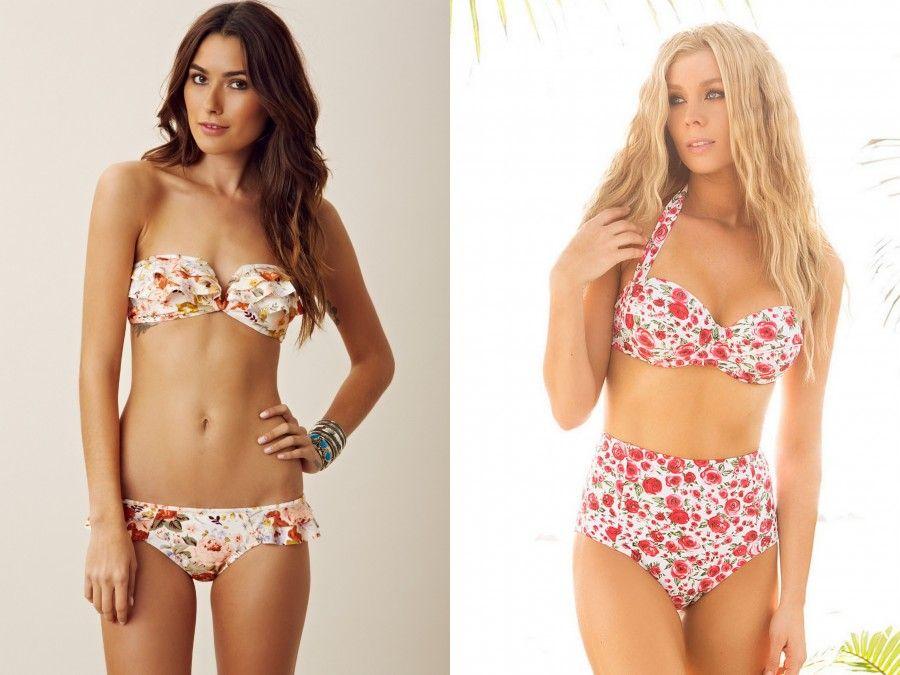 Bikini floreali: un immancabili must have da mettere subito in valigia