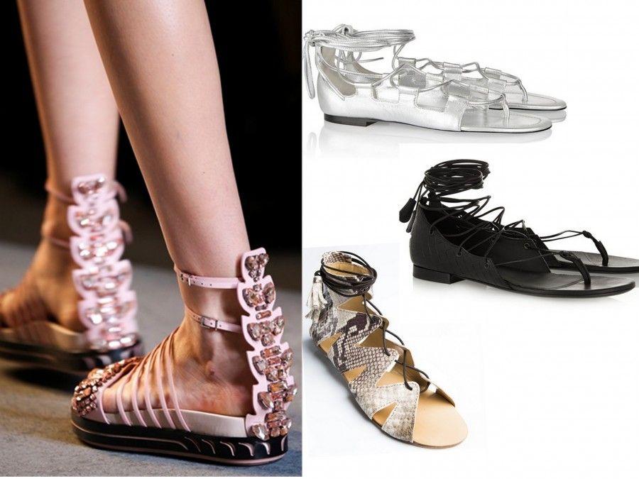 Proposte sandali bassi di Fendi, Bottega Veneta, Tamara Mallon e le Capresi