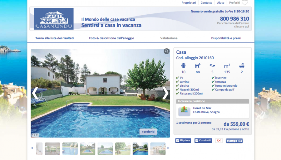 un esempio delle ville in Spagna su Casa Mundo