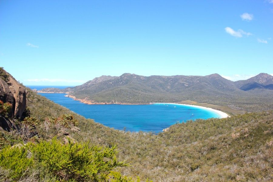 La straordinaria vista da Wineglass Bay