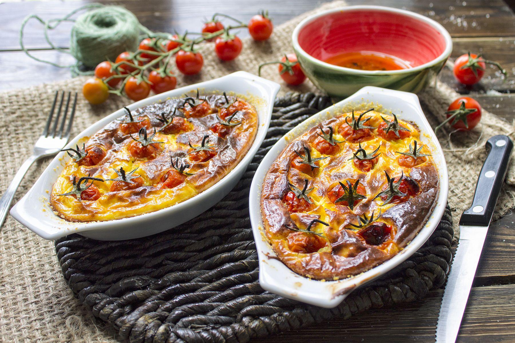 Clafoutis di pomodorini e parmigiano
