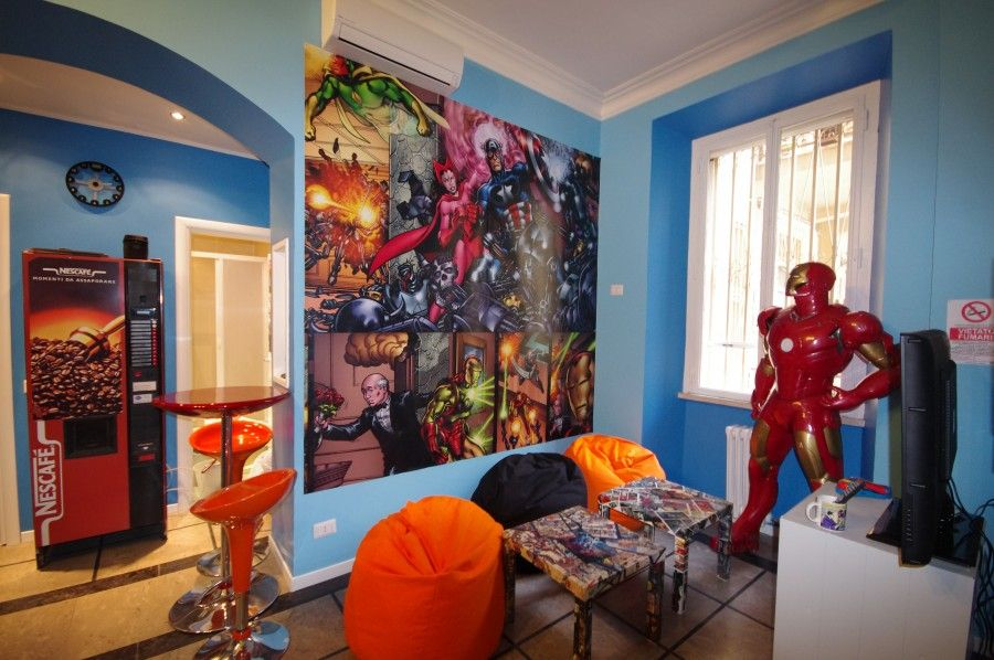 stanze d'albergo dedicate ai fumetti
