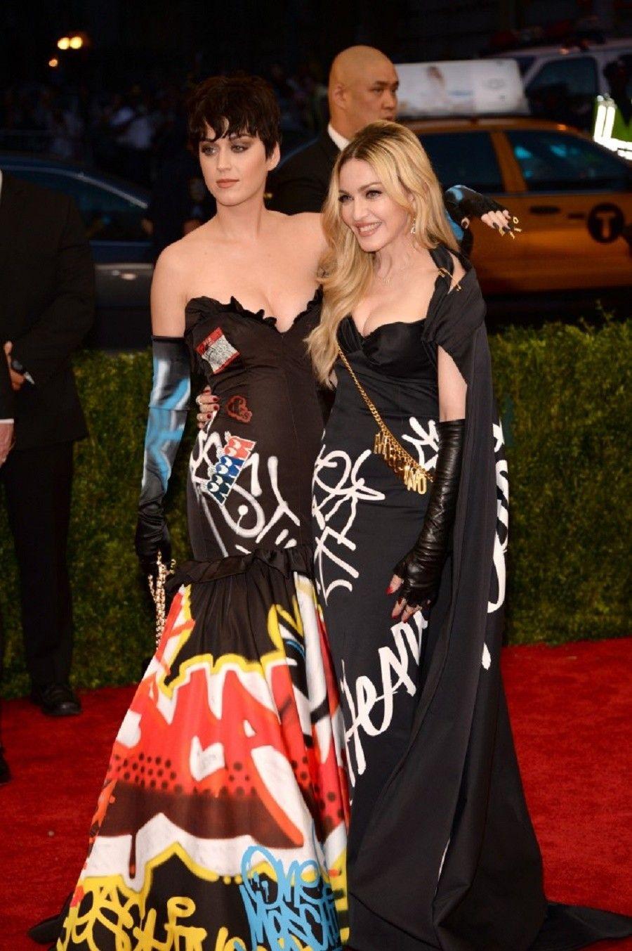 Katy Perry e Madonna al Met Gala 2015