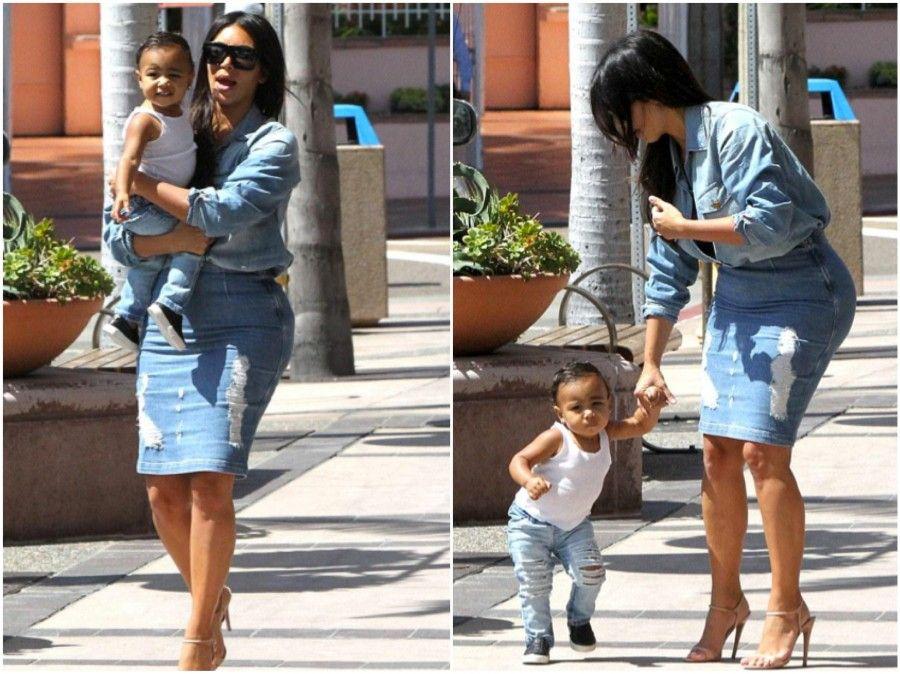 kim-kardashian-north-west-walking-photos-denim-skirt-shirt-prada-current-elliot-frame-denim-marianna-hewitt-blog