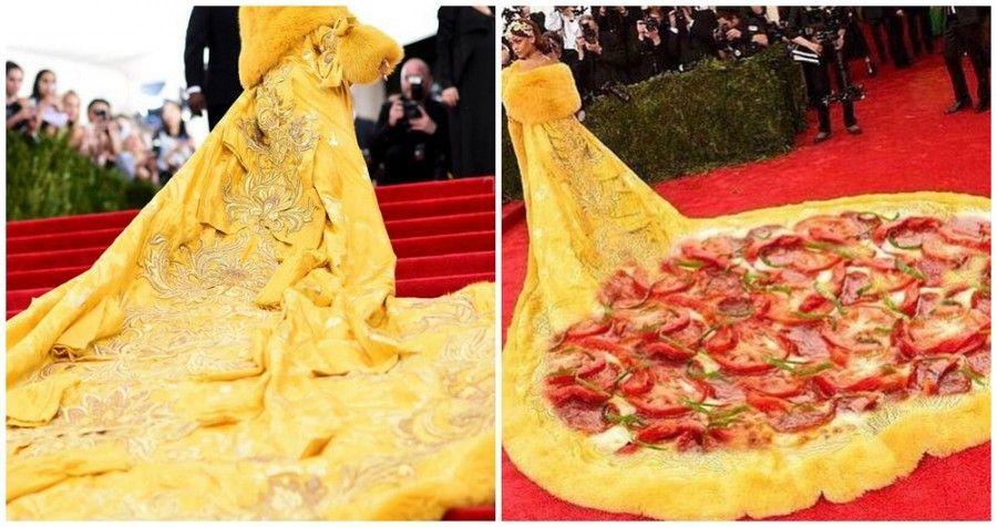 Rihanna al Met Gala e i meme