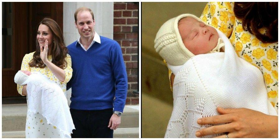 Charlotte Elizabeth Diana con mamma Kate e papà William