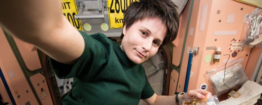 Samantha Cristoforetti a bordo dell'ISS