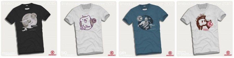 T-shirt per Emergency disegnate dai fumettisti italiani