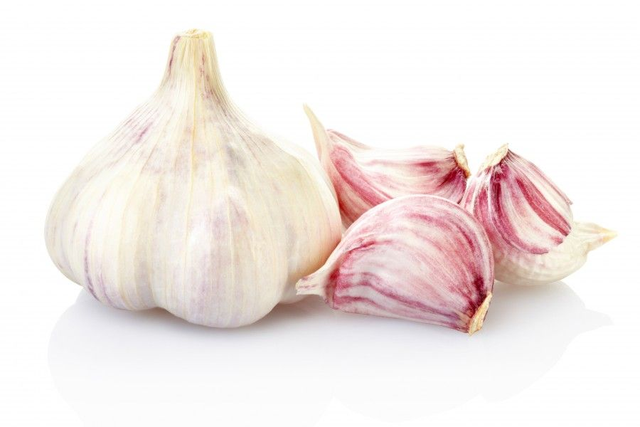 Garlic isolated on white, clipping path included