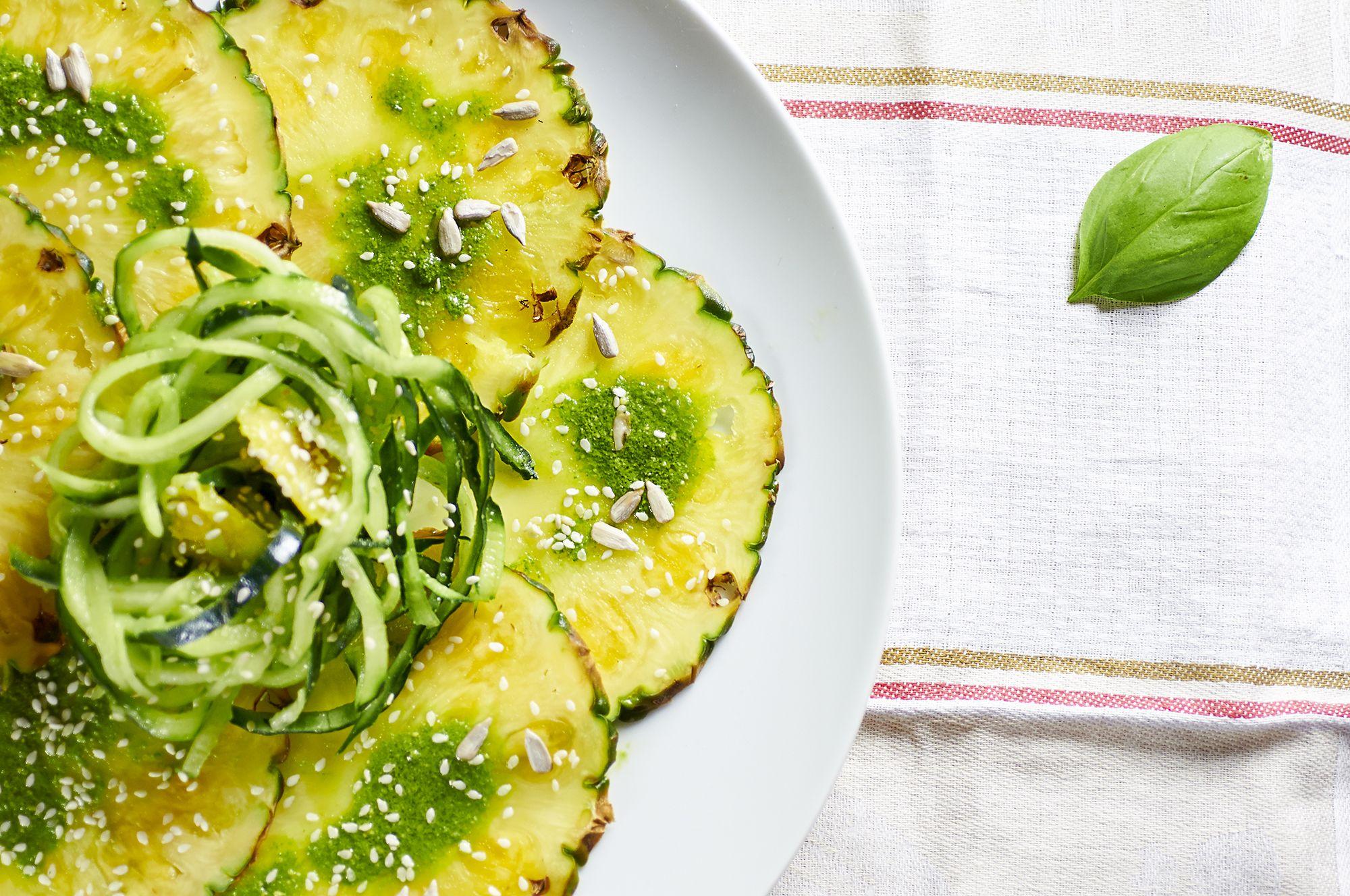 ricetta carpaccio di ananas al pesto