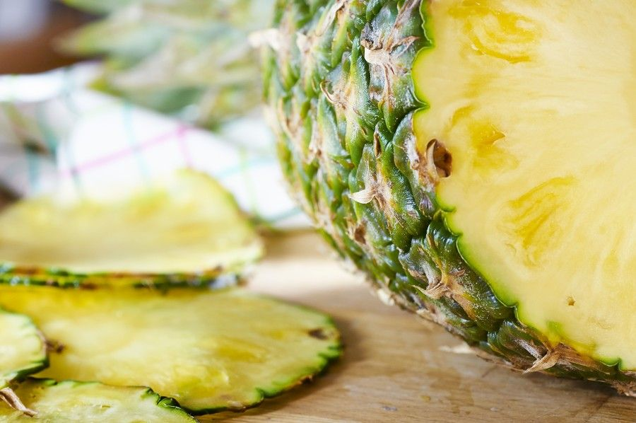 Carpaccio di ananas al pesto 2