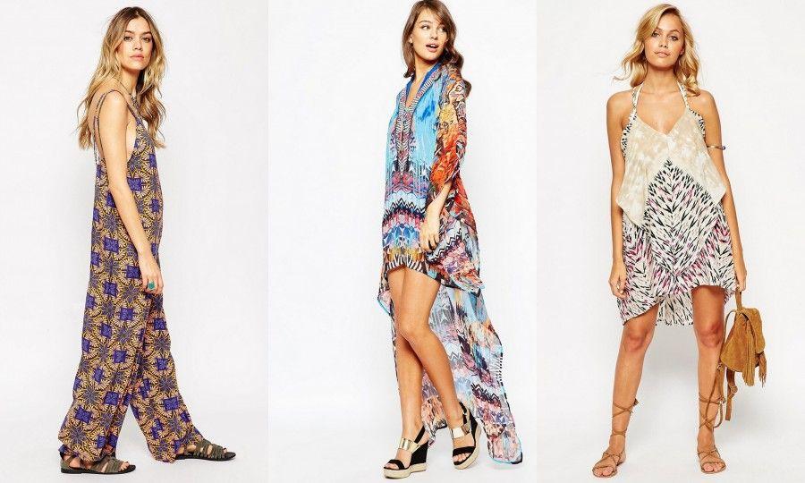 Tute Hippie Chic e abiti svolazzanti e colorati su Asos.com