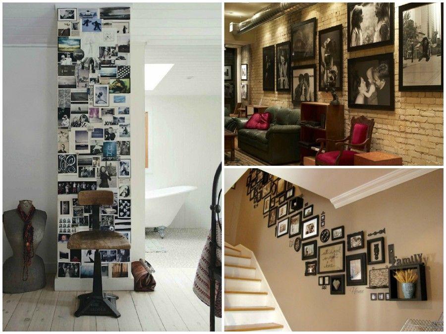 4 regole da seguire per appendere le nostre foto alle - Decorare una parete di casa ...