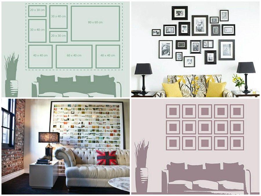 4 regole da seguire per appendere le nostre foto alle pareti di casa bigodino - Come mettere i cuscini sul letto ...