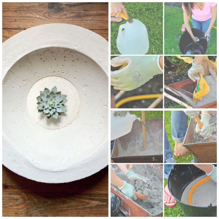 Come creare oggetti d 39 arredo fai da te con il cemento for Oggettistica fai da te per casa