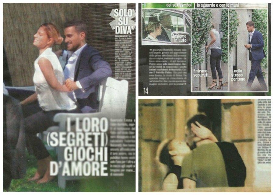 Il bacio tra Emma Marrone e Fabio Borriello