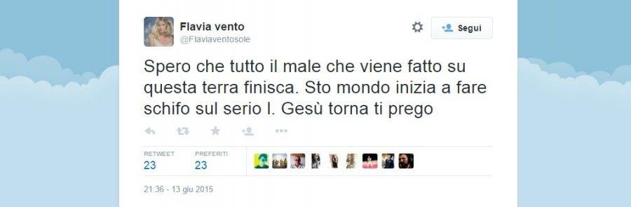 Flavia Vento su Twitter
