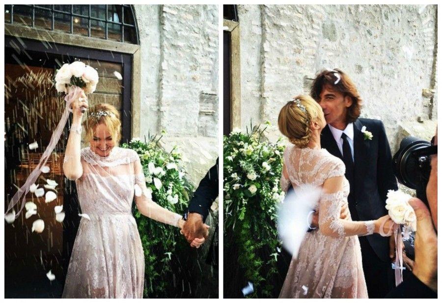 Frida Giannini in abito da sposa