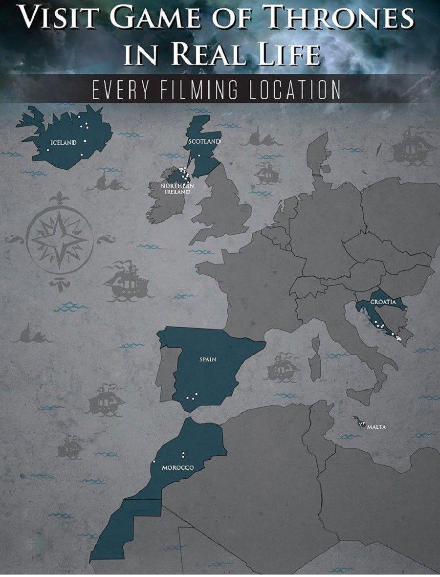 Luoghi del mondo dove è stato girato Game of Thrones