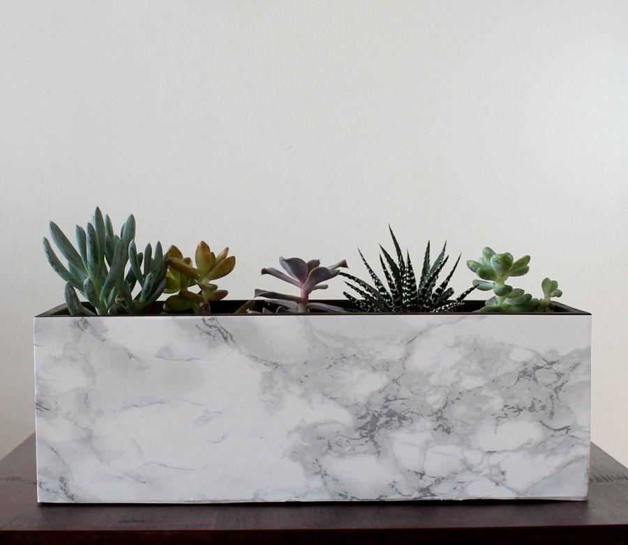 marble-planter diy
