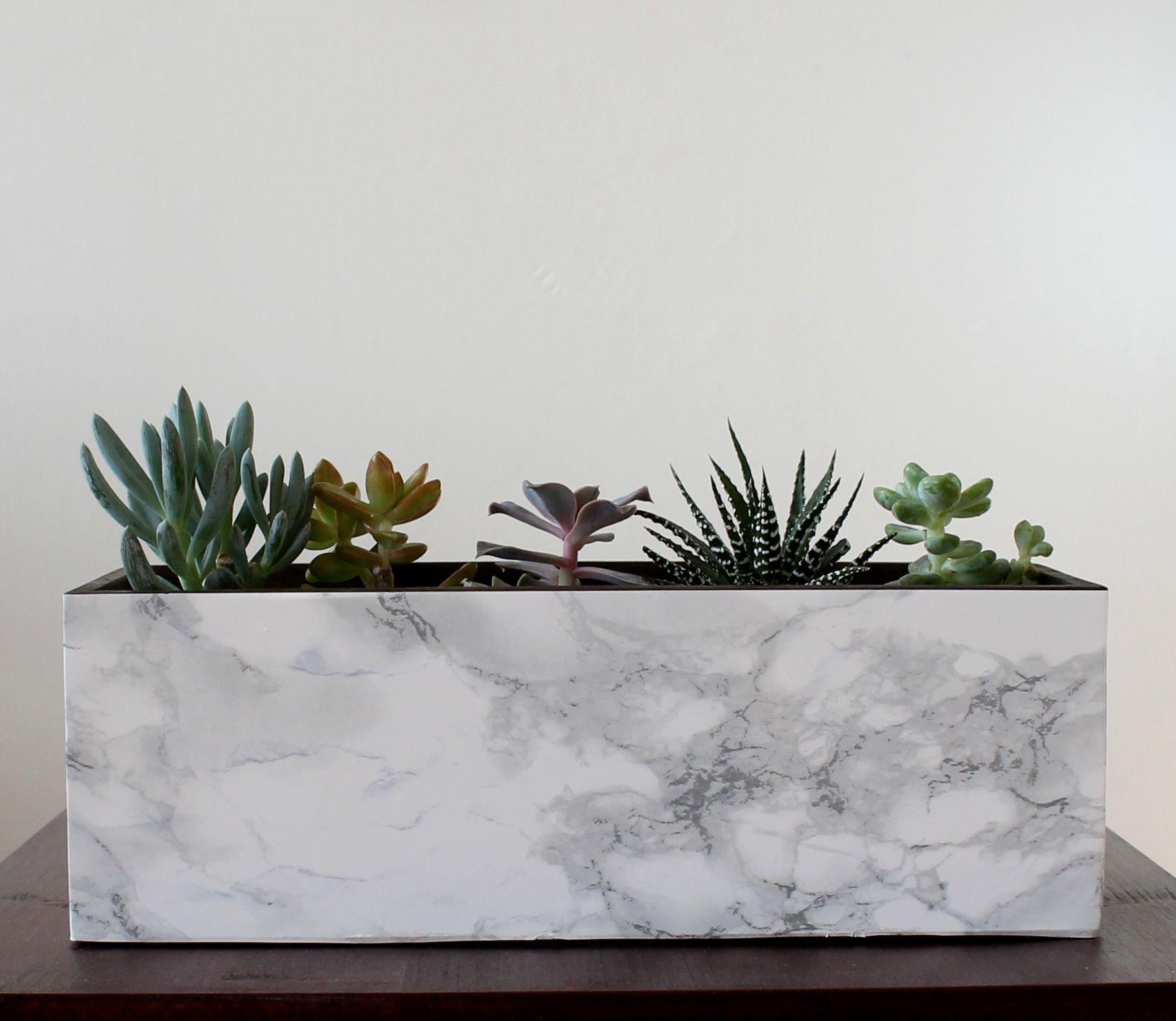 DIY: come creare i vasi con l'effetto marmo