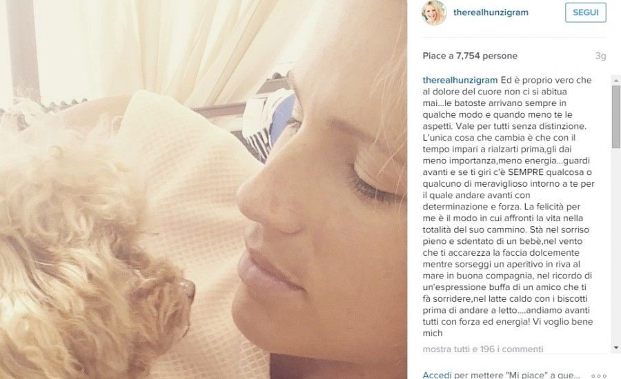 Michelle Hunziker su Instagram