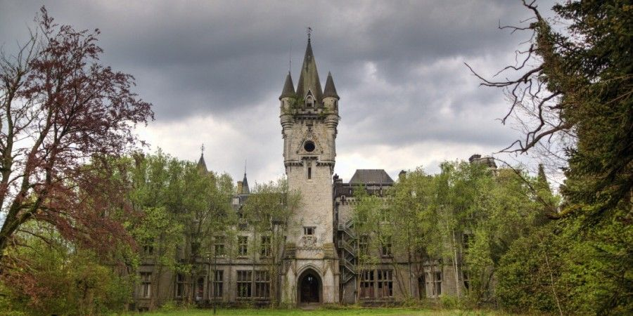 [UNVERIFIED CONTENT] The abandoned neo-gothic castle of Chateau de Noisy. Located in Celles, southern Belgium.