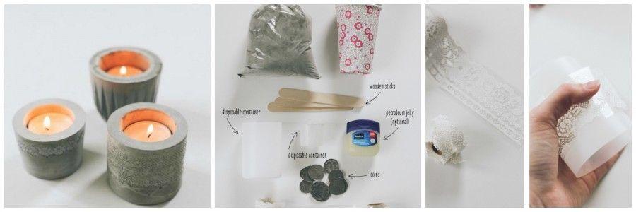Come creare oggetti d 39 arredo fai da te con il cemento for Oggetti decorativi fai da te