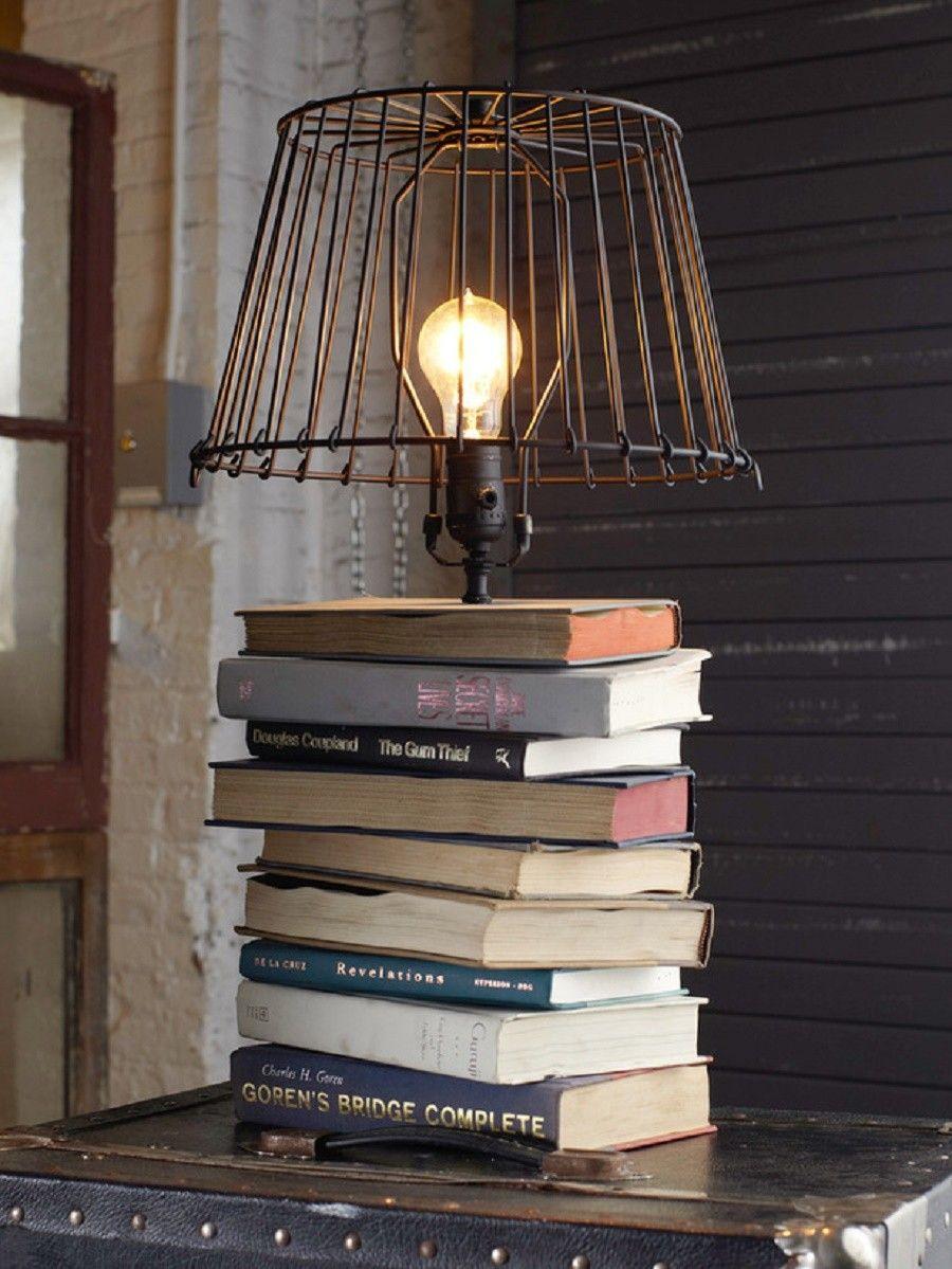 riciclare-vecchi-libri-lampada