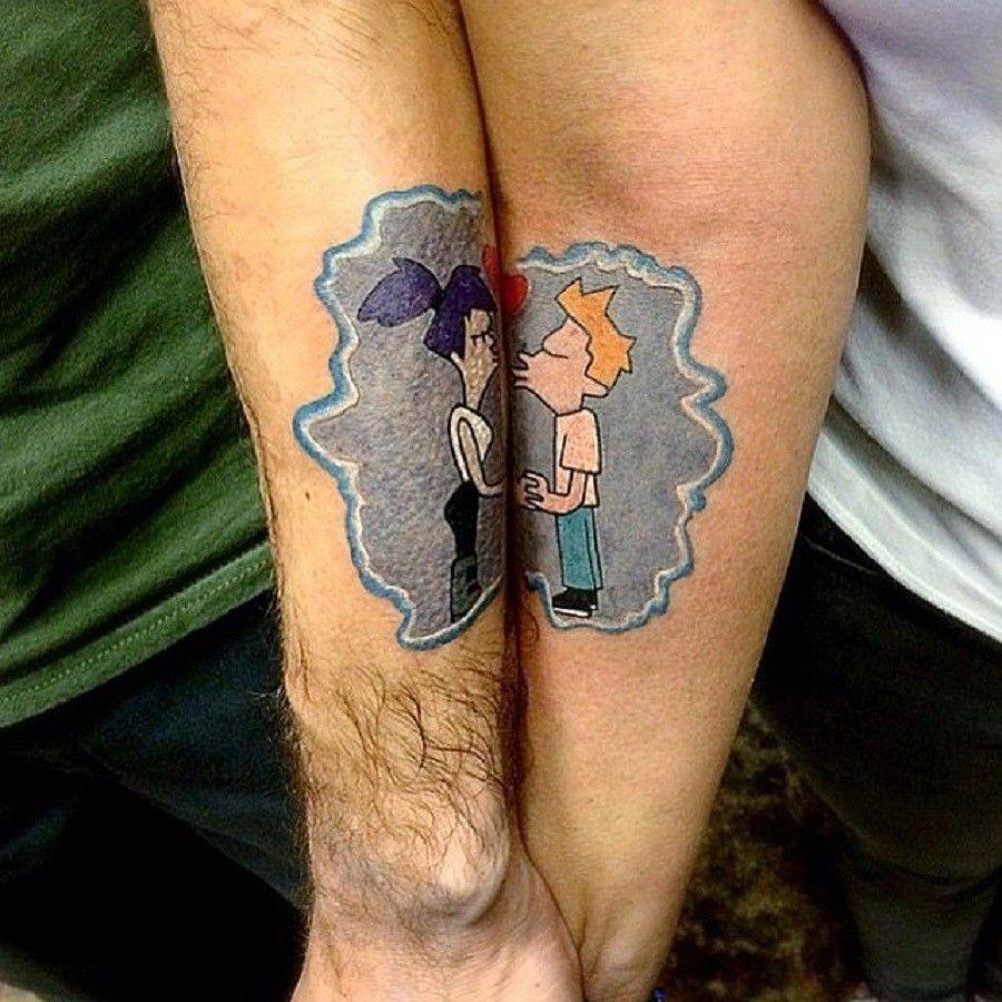 tatuaggi-di-coppia-bacio