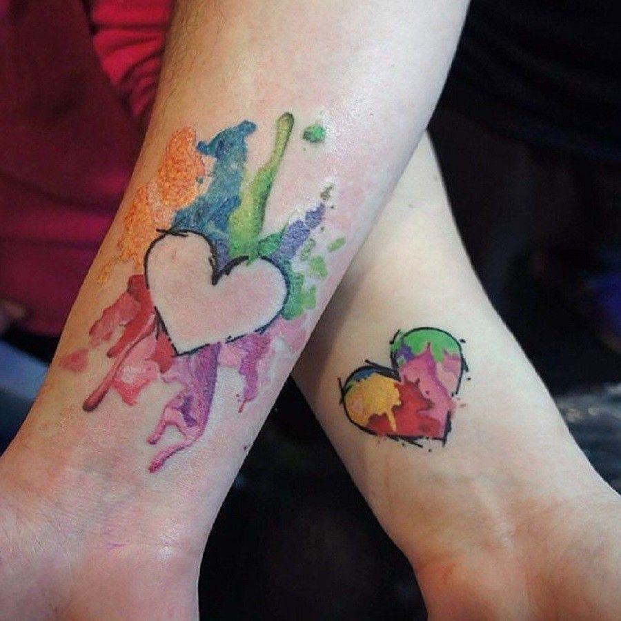 tatuaggi-di-coppia-colorati