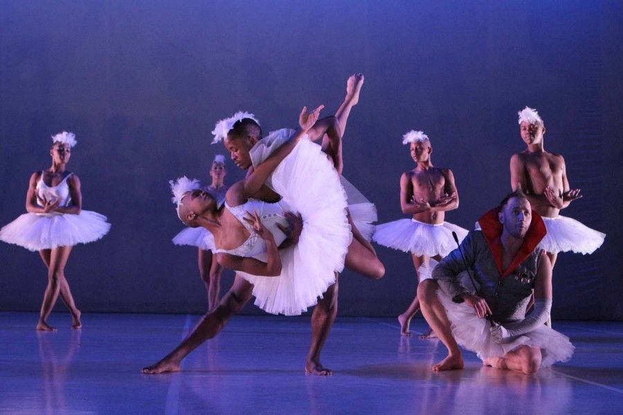 Dada Masilo's 'Swan Lake' as previewed at the Dance Factory in Newtown, Johannesburg. Photograph : John Hogg.