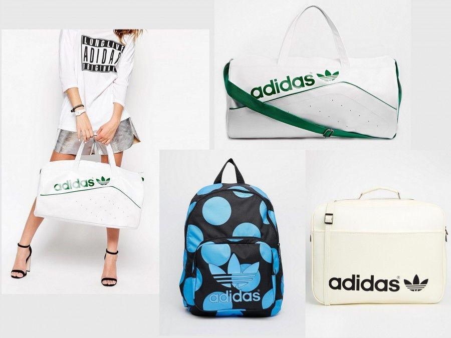 borse da mare Adidas (borsa a sacco 75€, cartella 116€, zainetto Adidas Originals x Pharrell Williams 49€