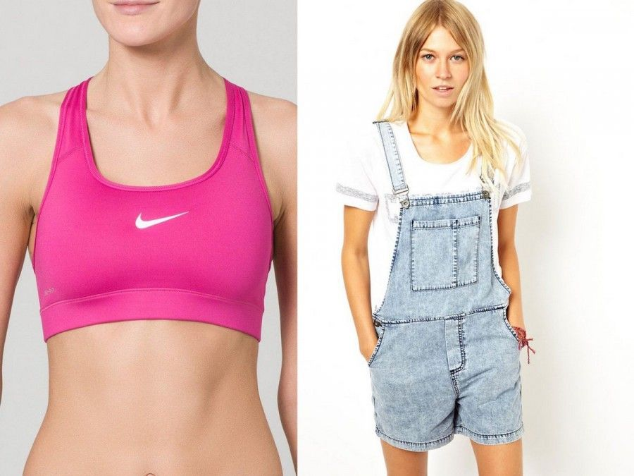 Reggiseno Sportivo di Nike, Salopette di Jeans di Asos